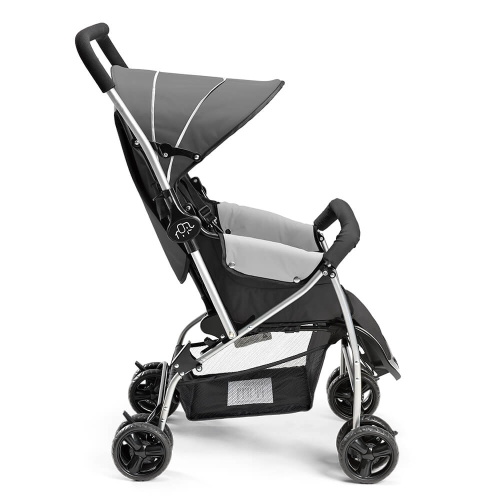 Carrinho De Bebê Berço Multikids Baby Flip Retrátil Cinza