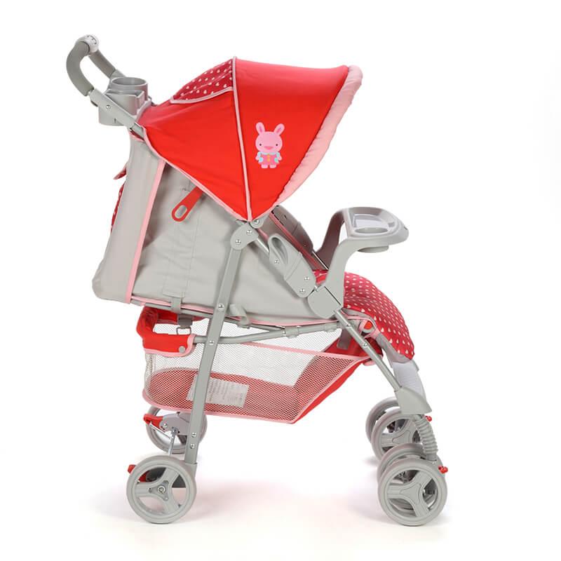 Carrinho de Bebê Fit Voyage Rosa Puppy
