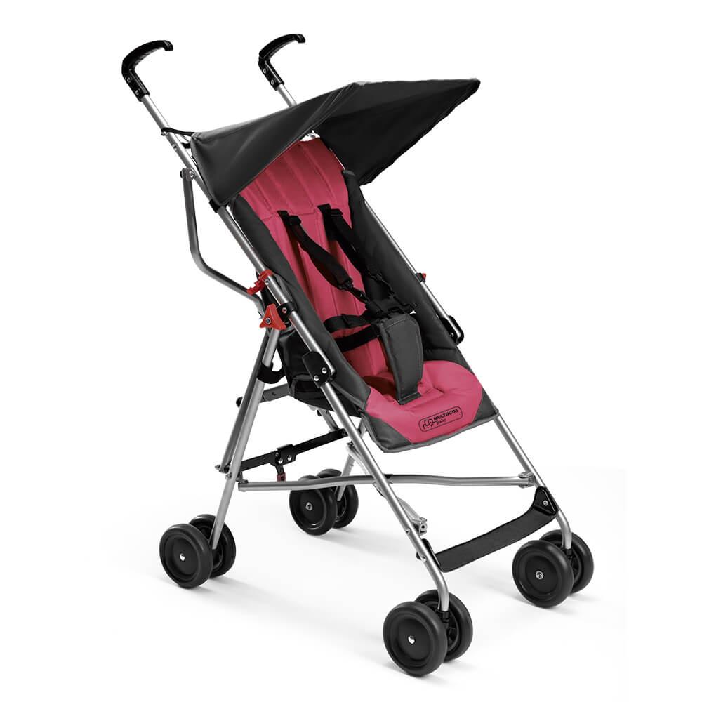 Carrinho De Bebê Pocket Rosa Multikids Até 15 Kg