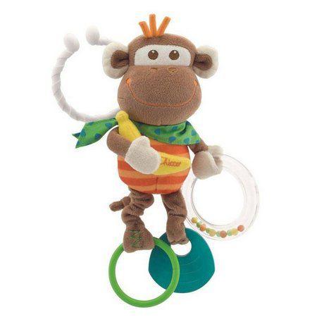 Chocalho para Carrinho Macaco Treme Treme Chicco