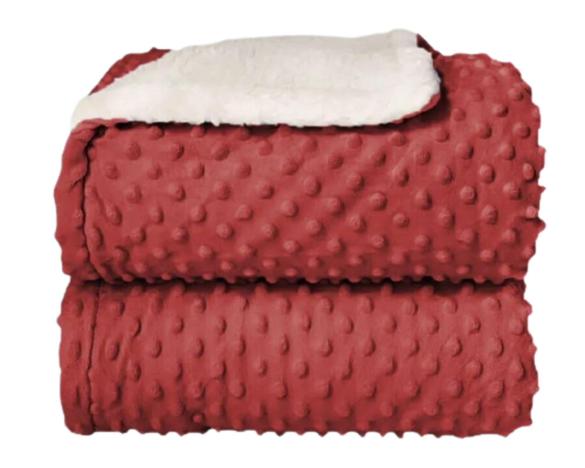 Cobertor Dots Plush Sherpa