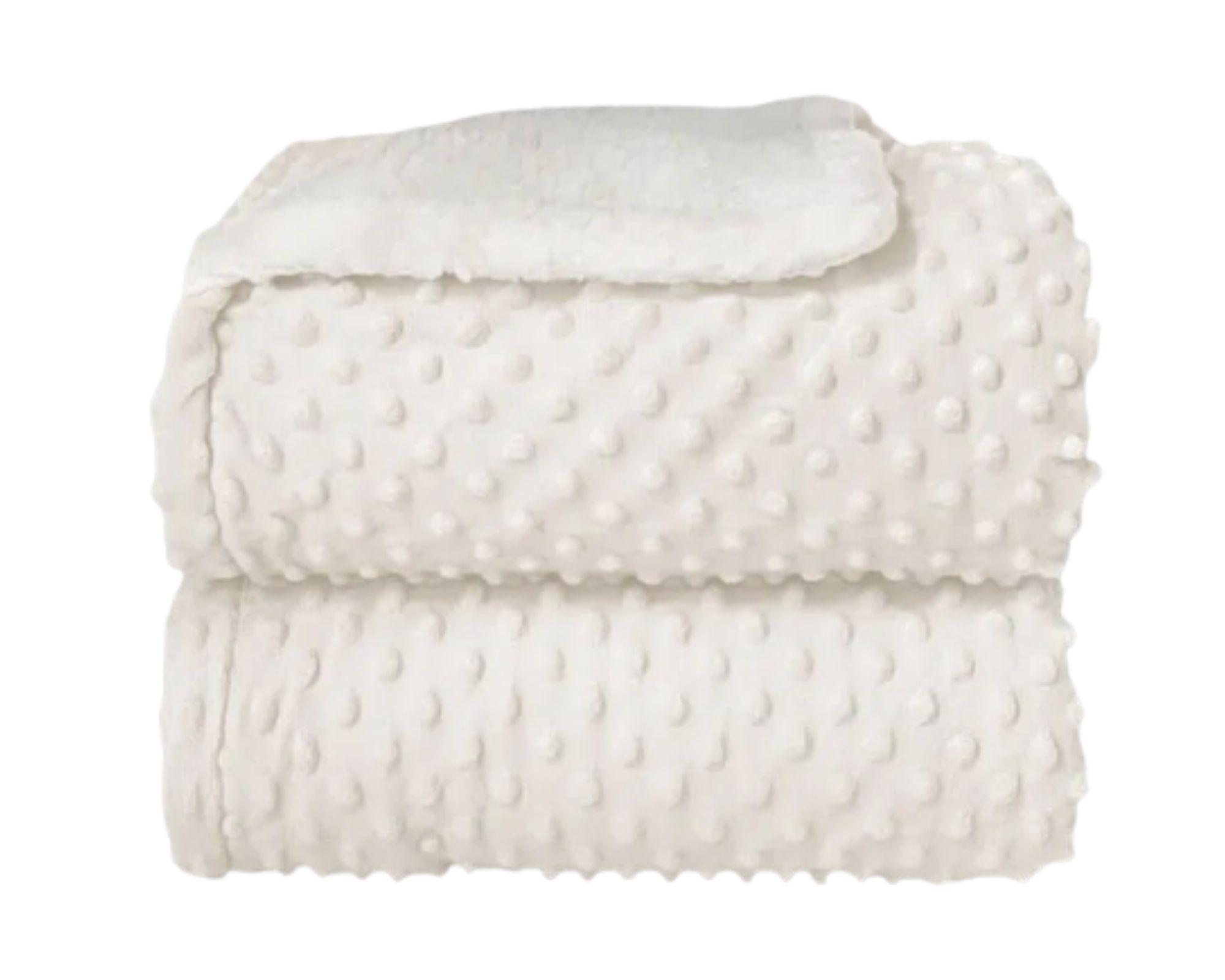 Cobertor Dots Plush Sherpam Cor:Branco