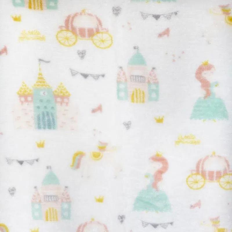 Cobertor Sherpa Print Cavaleiro Baby Branco