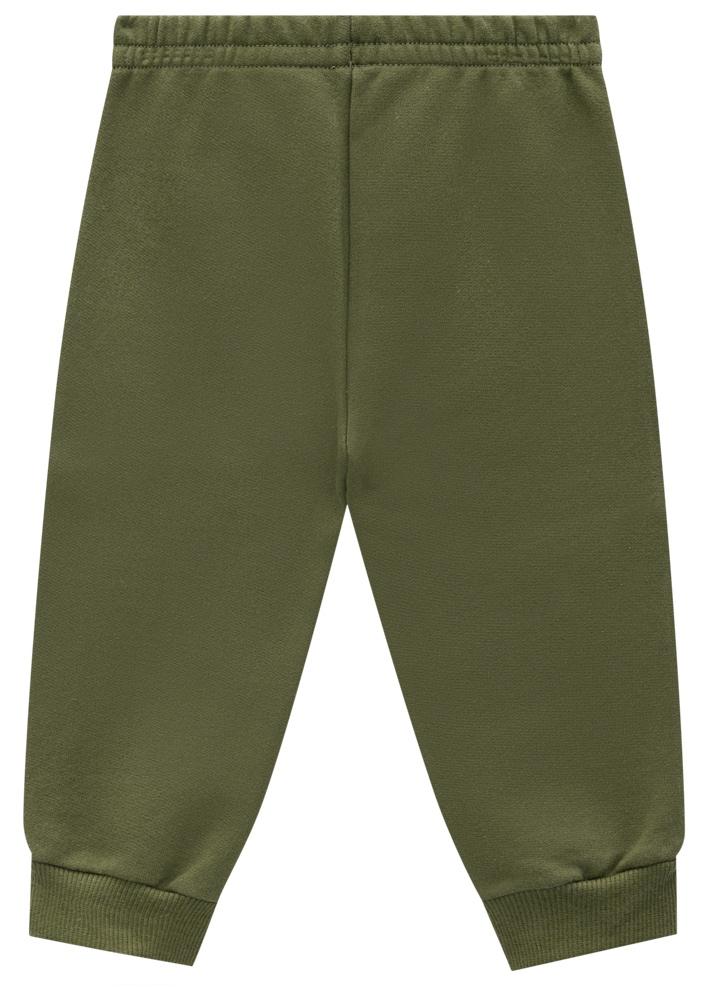 Conjunto Ursinho Verde Blusa e Calça Moletom Masculino Brandili