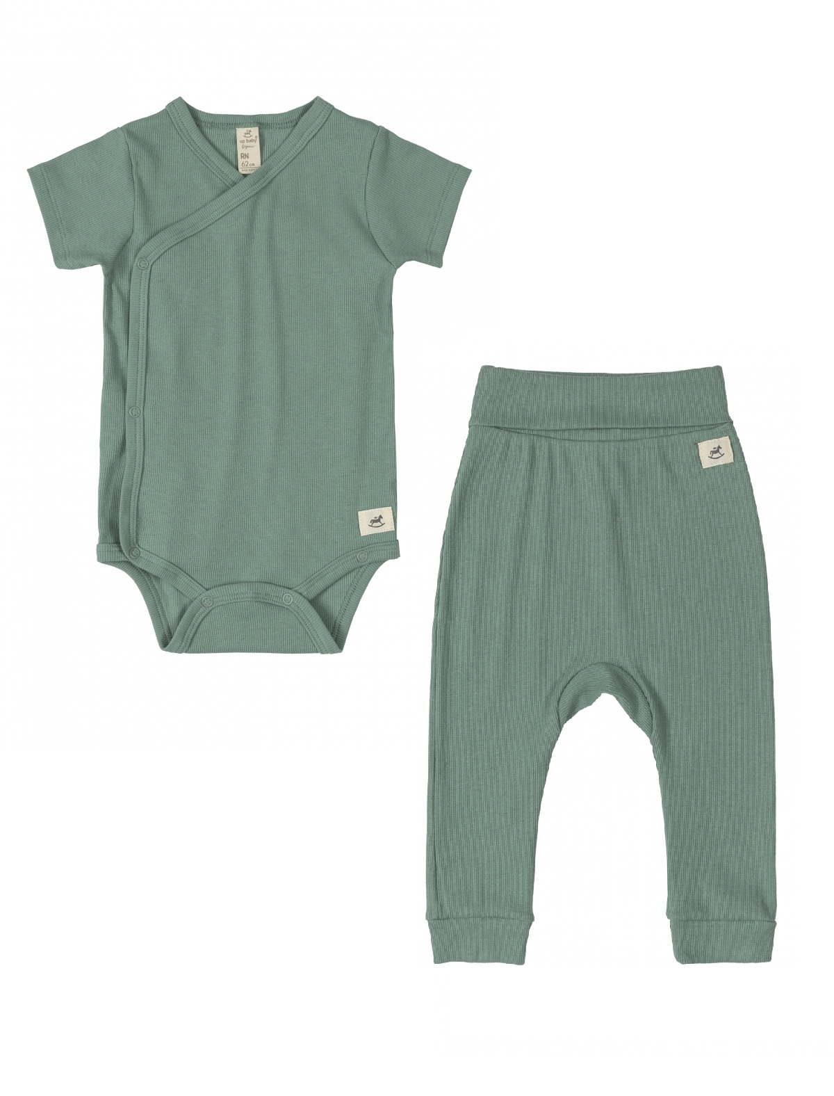 Conjunto Body Curto Nature Verde Up Baby