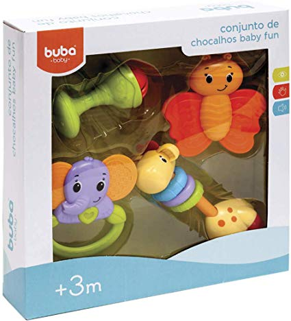 Conjunto de Chocalhos Baby Fun Buba