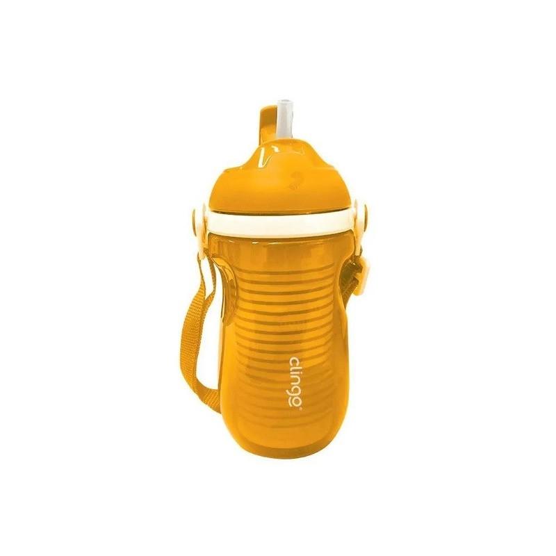 Copo Isotermico Com Canudo Amarelo Clingo