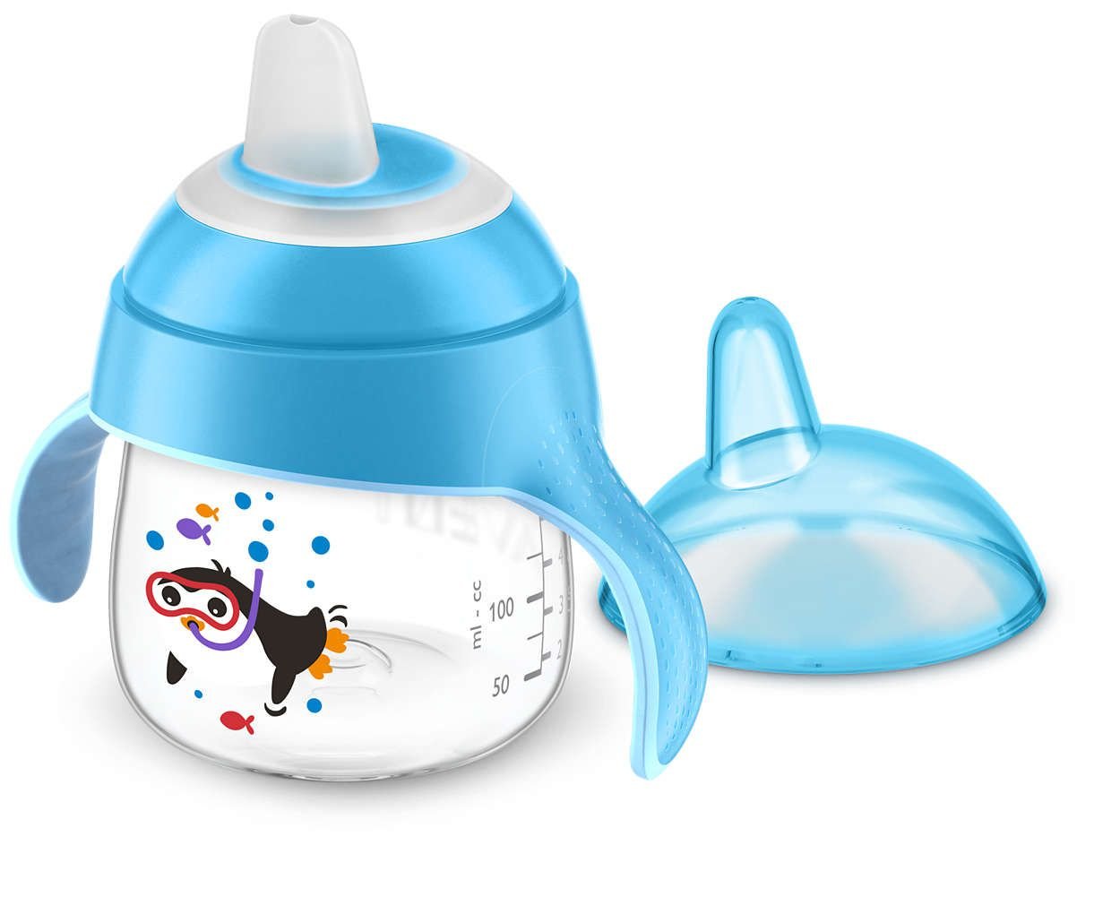 Copo Pinguim 200Ml Azul Avent SCF751/05