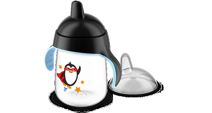 Copo Pinguim 330Ml Preto Avent SCF755/03