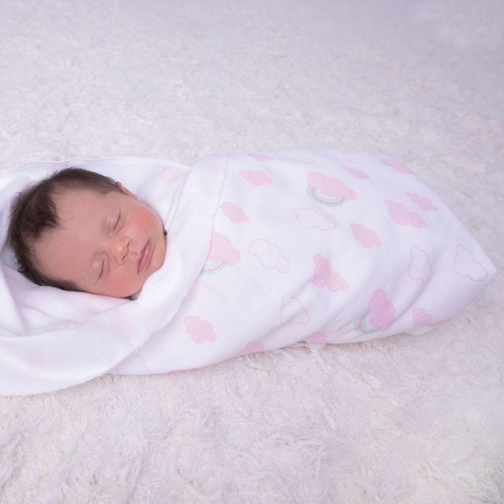 Cueiro Flanelado Papi Baby Estampado 80Cm X 80Cm