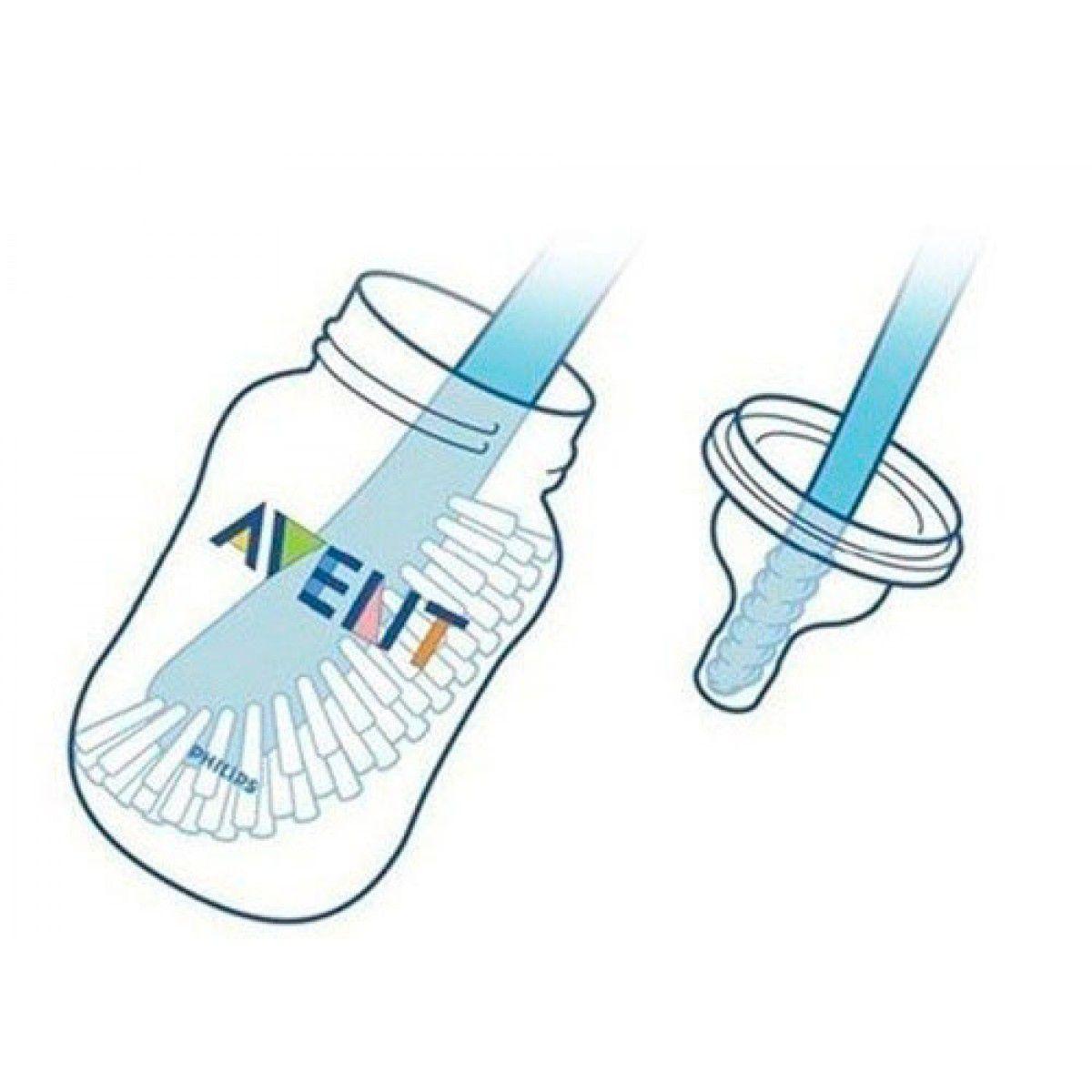 Escova para Mamadeira Azul Avent SCF145/06