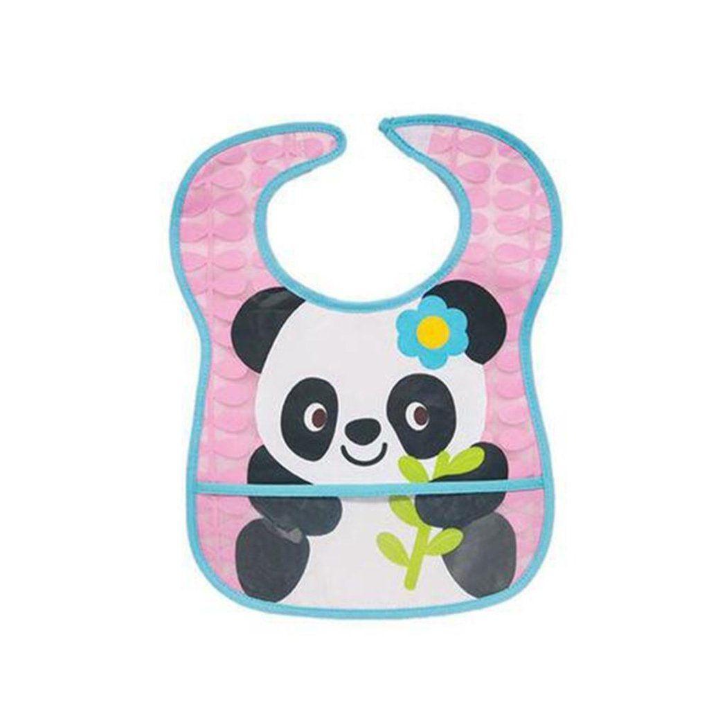Kit Alimentação Panda 2 Babadores Colher e Prato Térmico com Ventosa