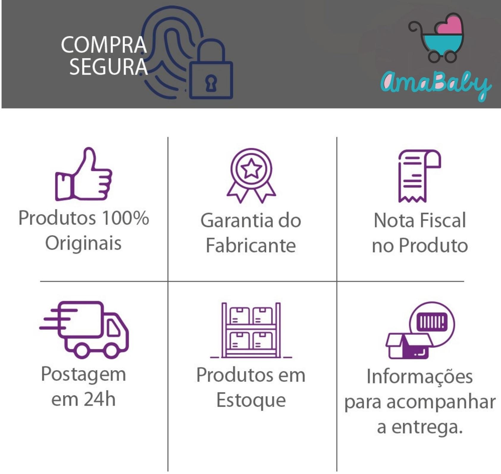 Kit Carrinho Bebê Duolee Gêmeos Preto Galzerano
