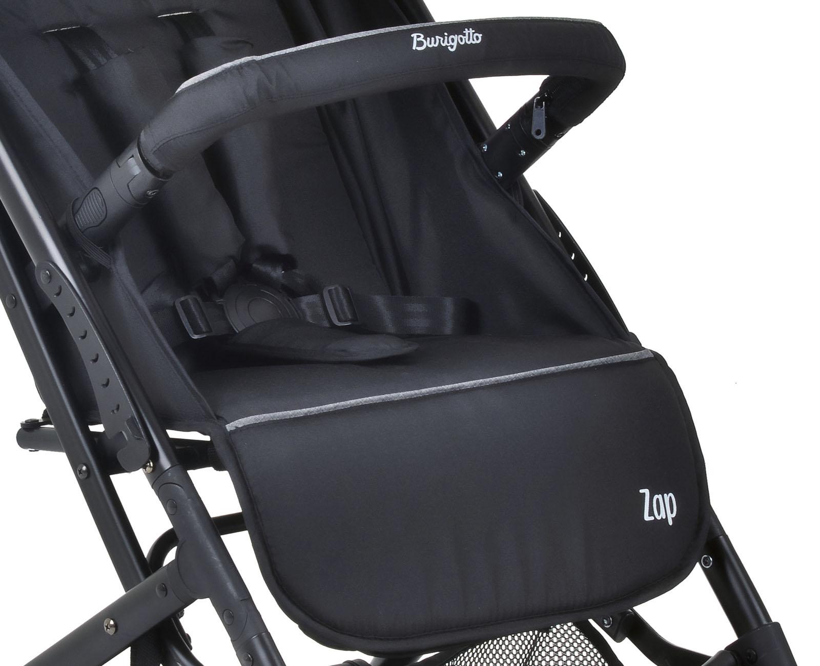 Kit Carrinho de Bebê Zap Preto + Bebe Conforto Burigotto