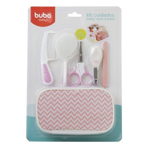 Kit Cuidados Baby com Estojo Rosa Buba