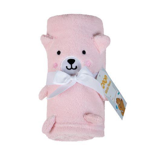 Manta para Bebê Bichinho Bordado Urso Rosa Lepper