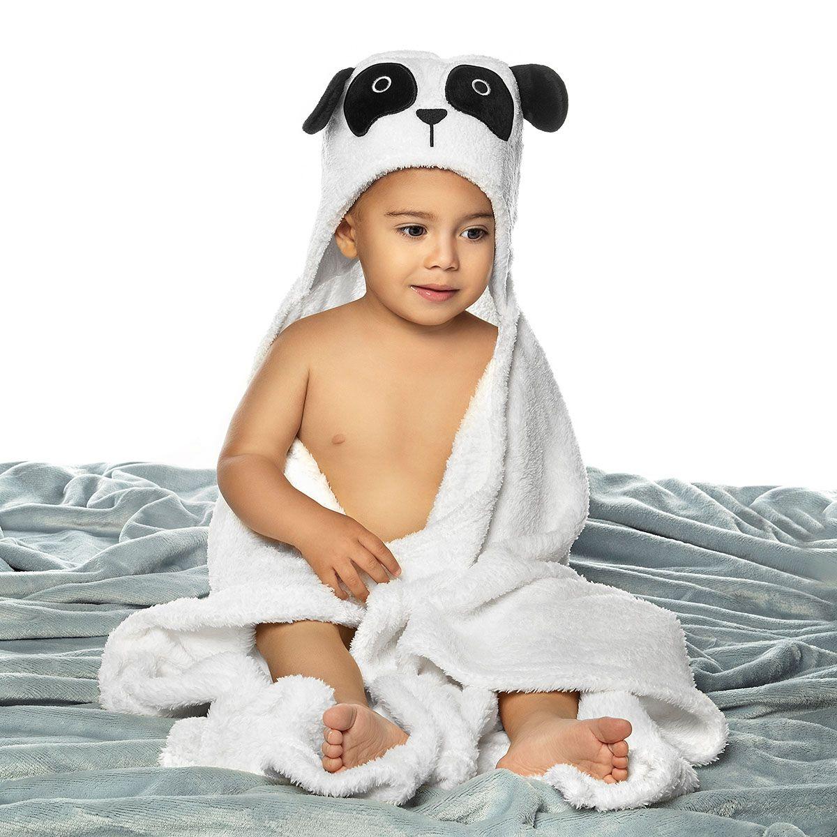 Manta para Bebe com Capuz Panda Fleece Lepper