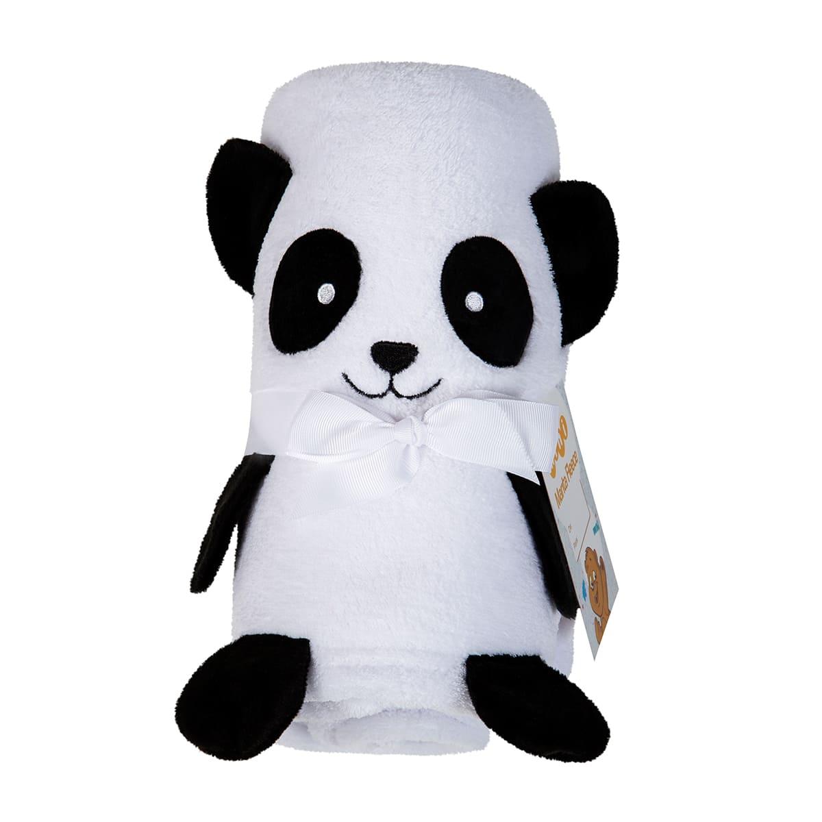 Manta para Bebe Bichinho Bordado Panda Lepper