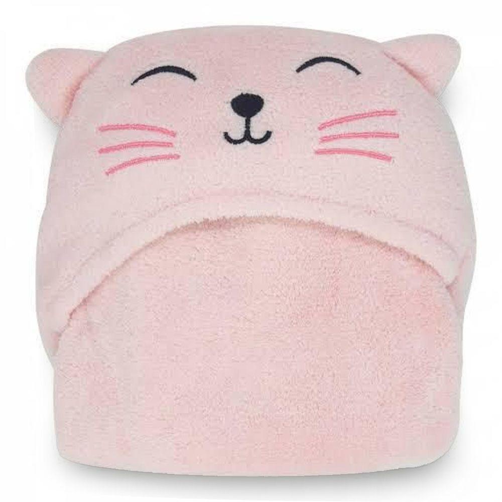 Manta para Bebe com Capuz Gato Fleece Lepper