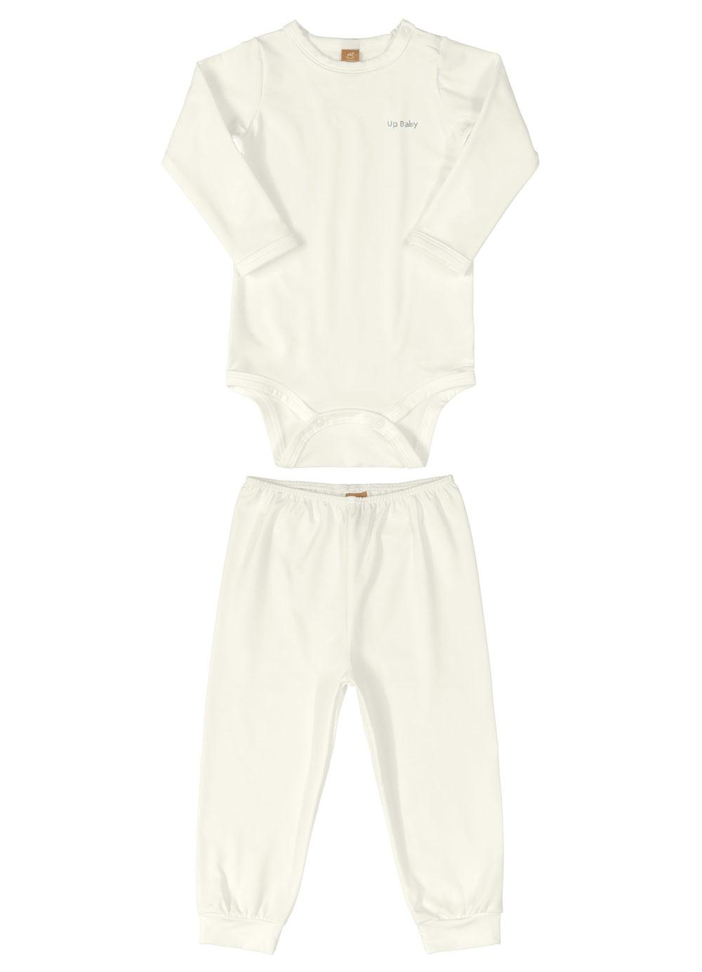 Pijama Térmico para Bebê Off White Up Baby