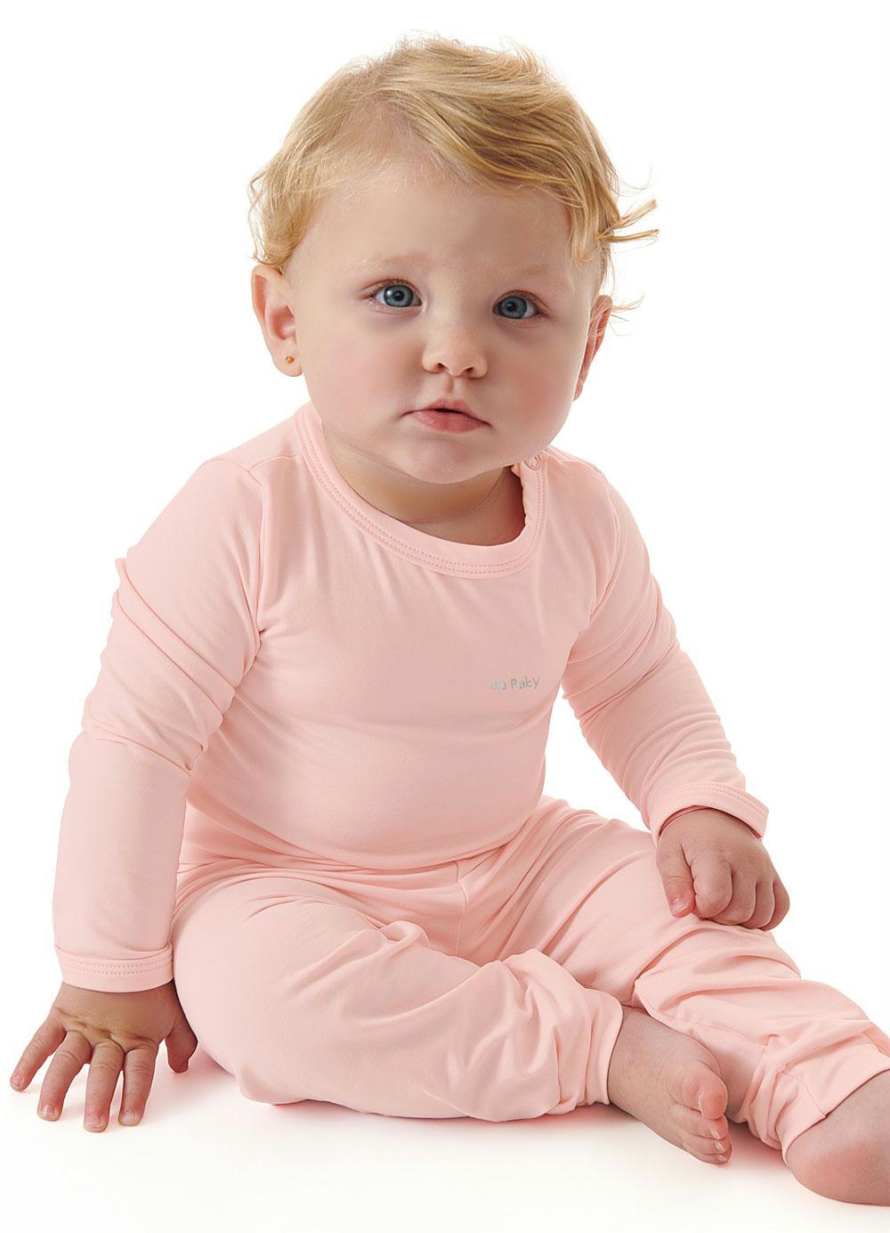 Pijama Térmico para Bebê Rosa Claro Up Baby