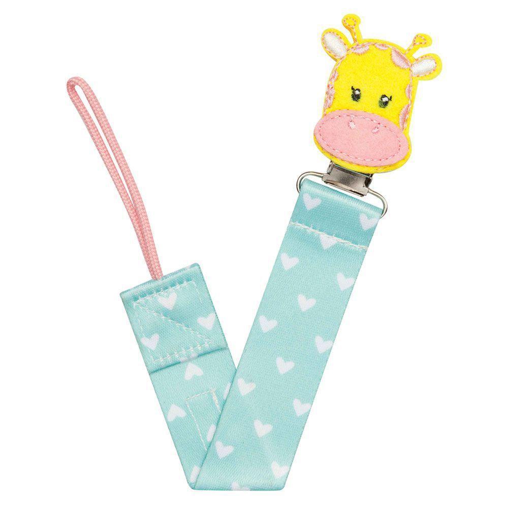 Prendedor de Chupeta Girafa Animal Fun Buba