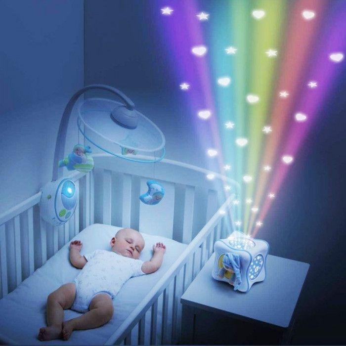 Projetor Rainbow Cube Azul Chicco