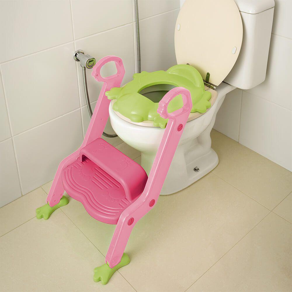 Redutor de Assento Rosa Com Escada Menina Multikids