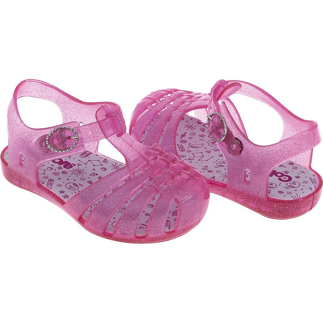 Sandália Pimpolho Colore Rosa Glitter