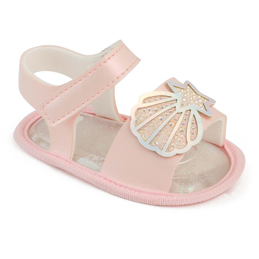 Sandália Pimpolho RN Rosa Solado Em Gel Glitter