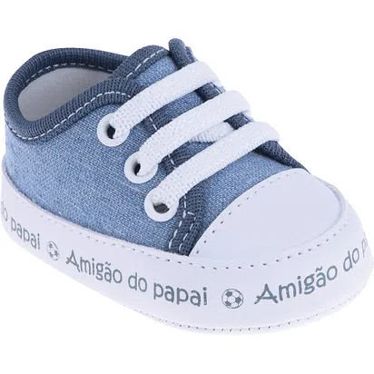 Tênis Infantil Bebe Pimpolho Fase 1 Azul