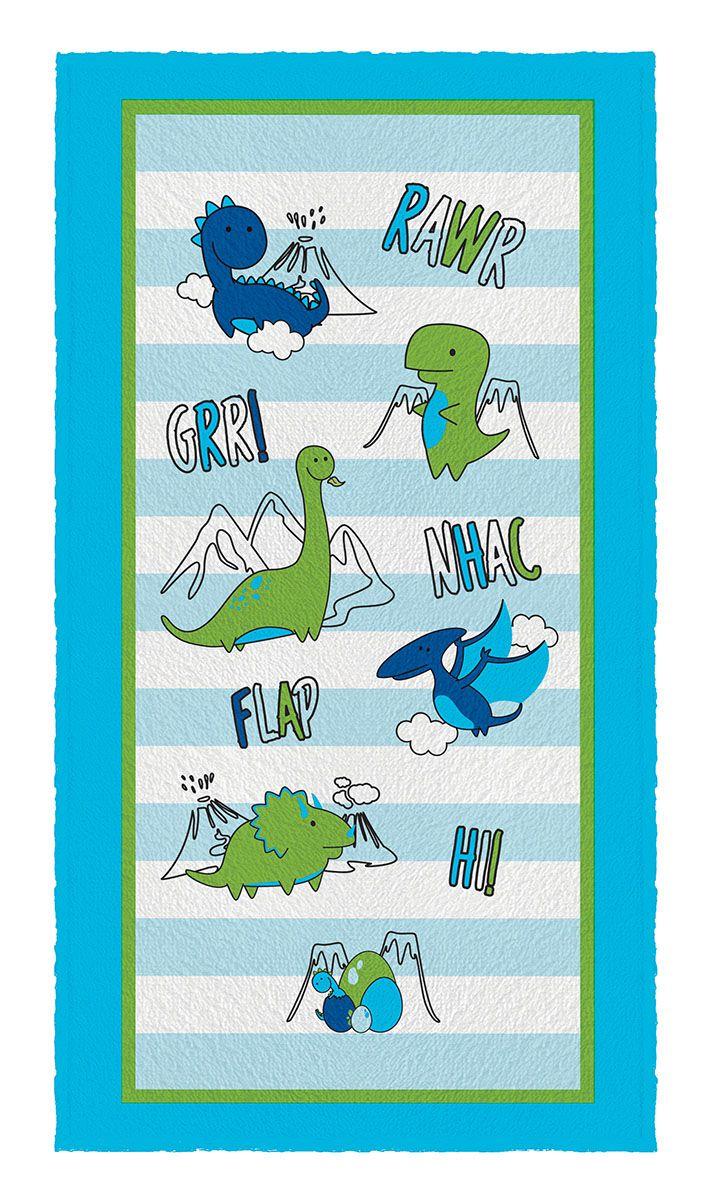 Toalha de Banho Estampada Dino Lepper