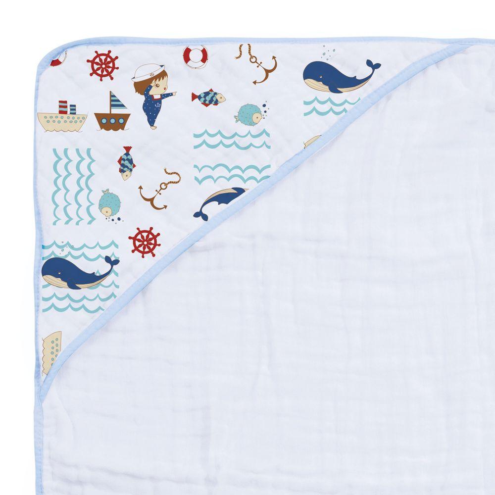 Toalha De Banho Soft Especial Karinho C/ Capuz Estampada 80Cm X 80Cm