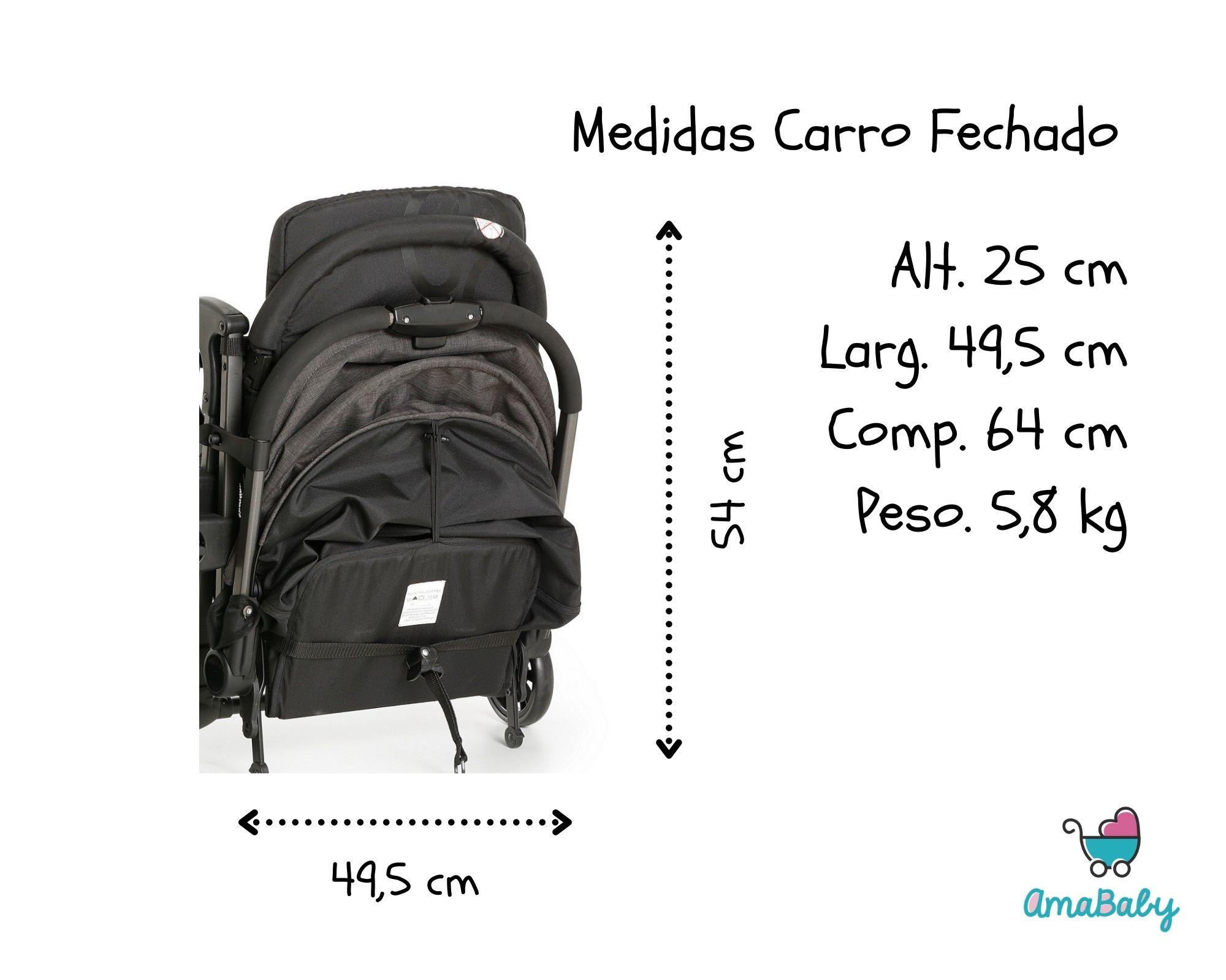 Travel System Carrinho Bebe Duolee com Bebe Conforto Preto Galzerano