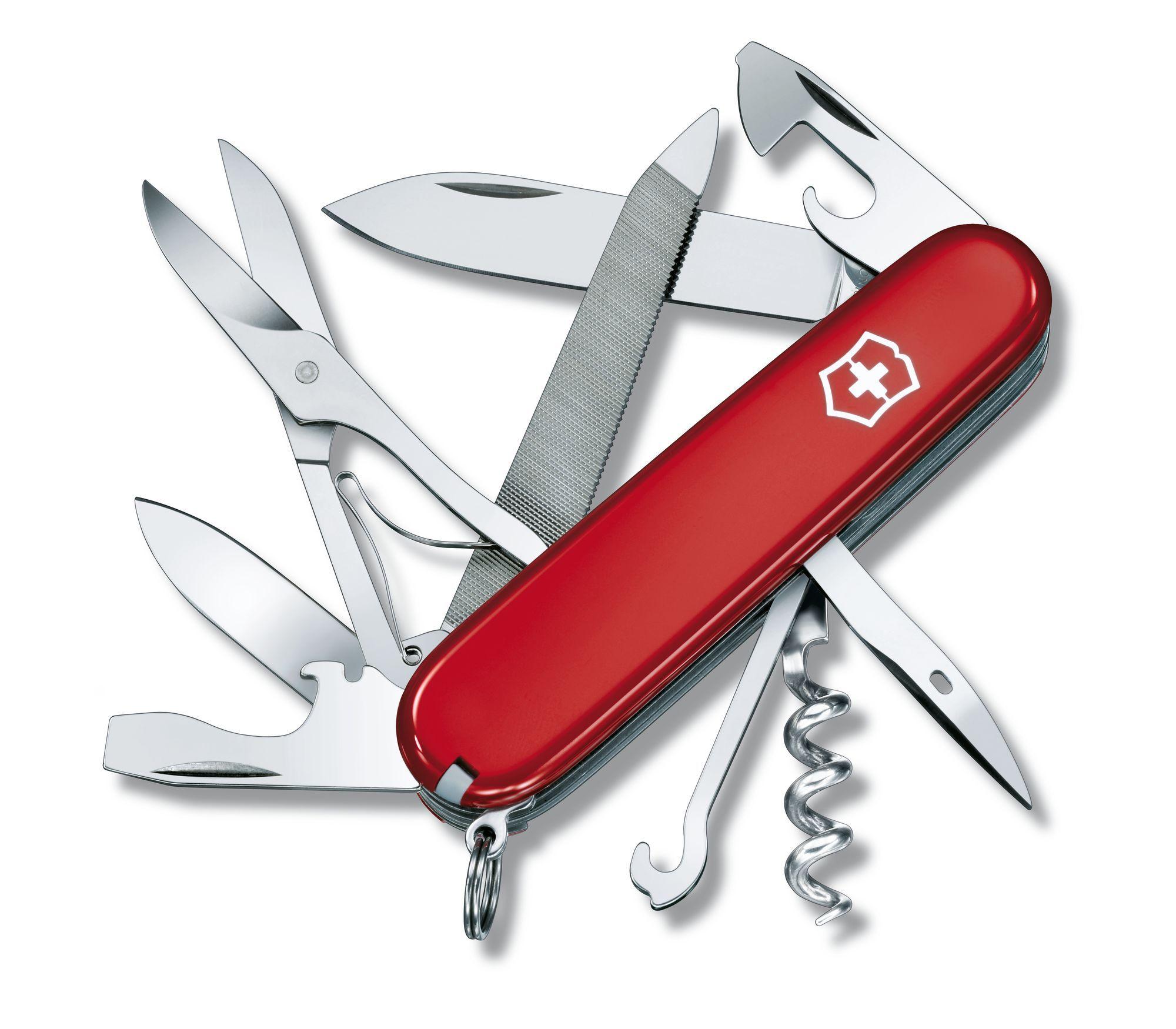 Canivete de bolso com 18 funções -  Médio - Victorinox - Vermelho