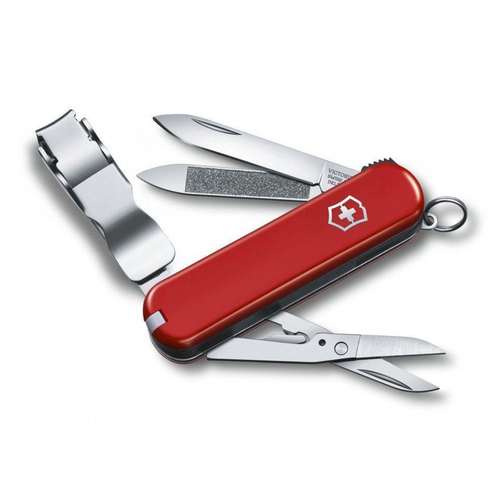 Canivete de bolso com cortador de unha - Pequeno - Vermelho - Victorinox