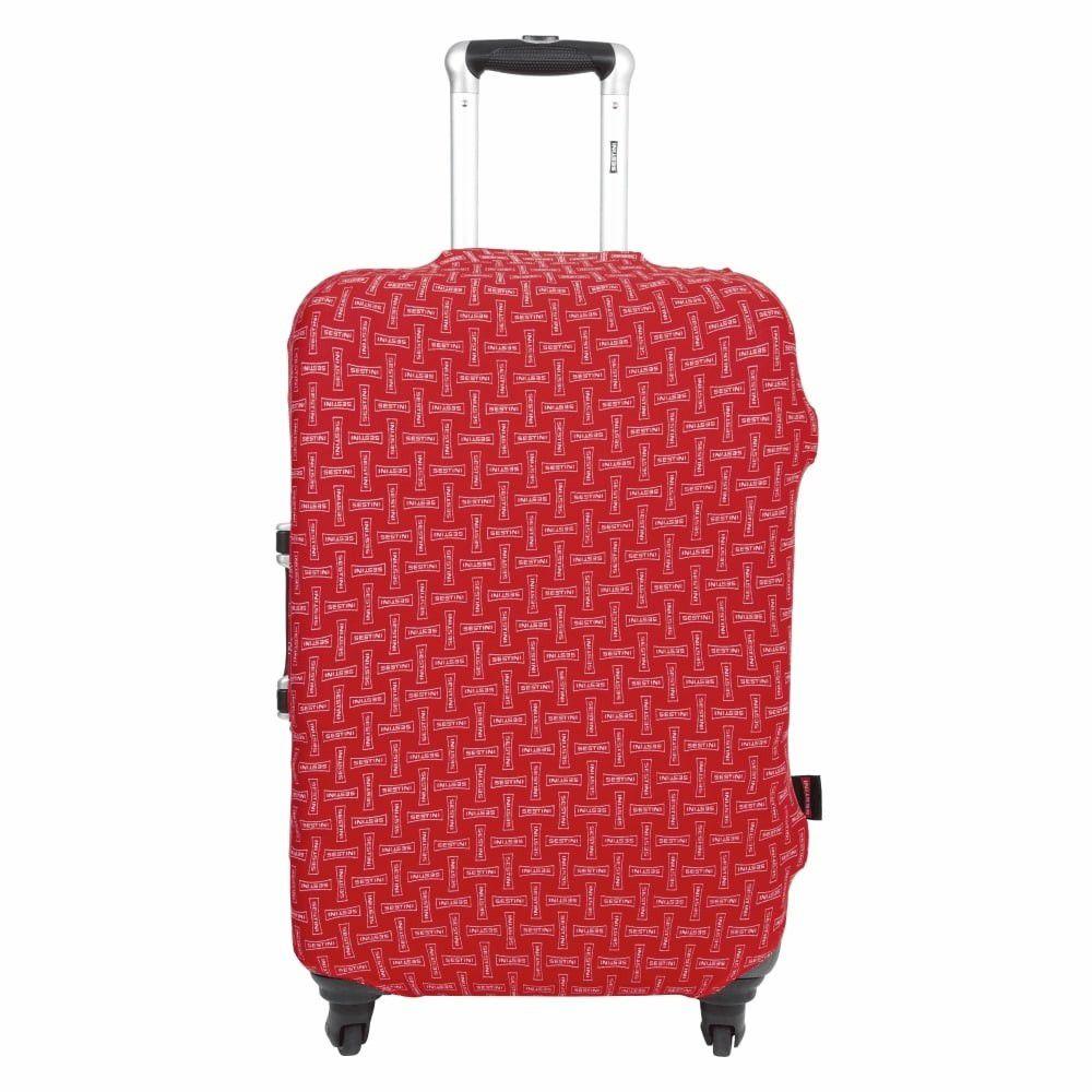 Capa Para Mala De Viagem Poliéster com Elastano - Grande - Vermelho - Sestini