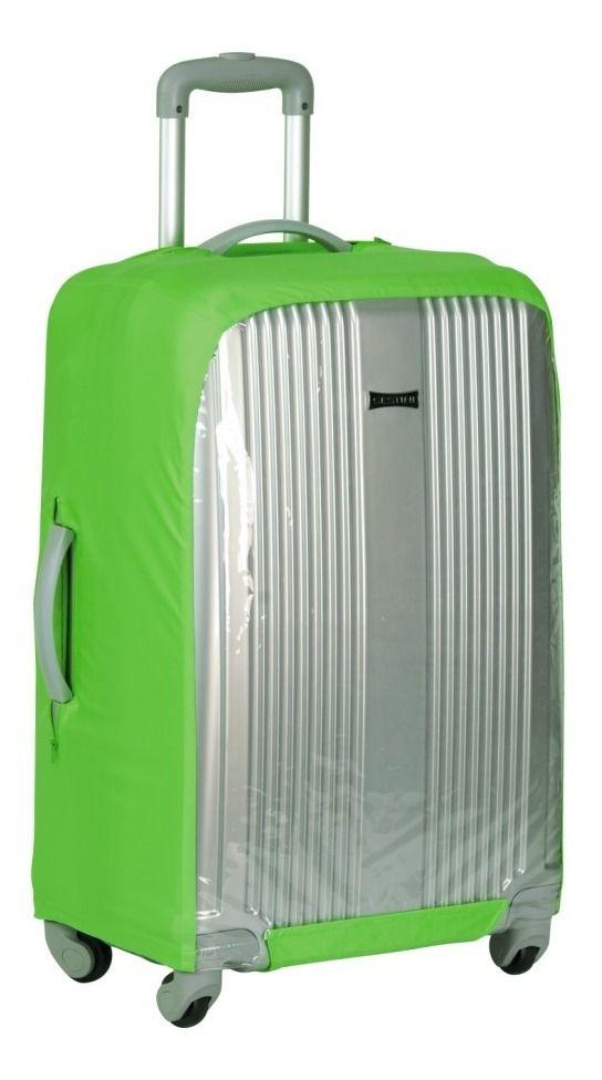 Capa Para Mala De Viagem Poliéster com Elastano e Frente transparente - Grande - Verde - Sestini