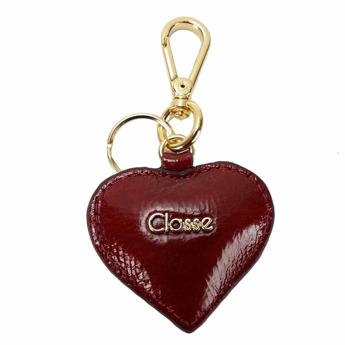 Chaveiro em couro Coração - Classe Couro - Vermelho