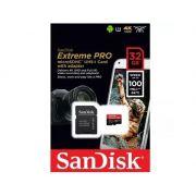Cartão Micro Sd Sandisk Extreme Pro 32gb 100mb 4k