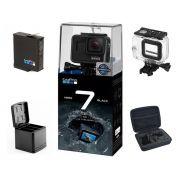 Gopro hero 7 Black + Bateria Extra + Carregador Telesin + Maleta