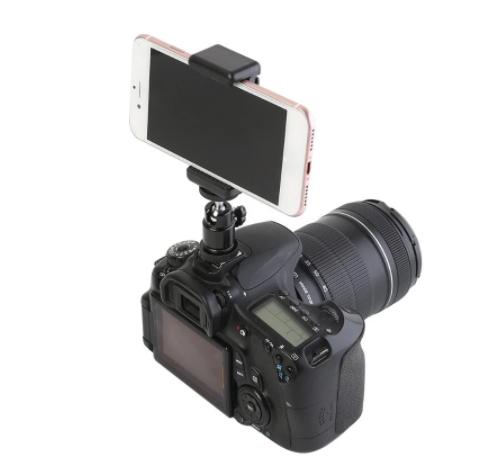Adaptador Ball head para câmeras DSLR