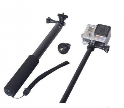 Bastão Extensor Para Câmeras Digitais C/Encaixe Tripé Padrão 1/4 e Câmeras de Ação ou Esportivas