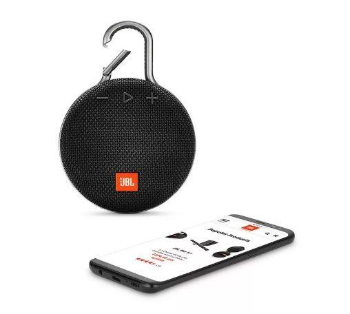 Caixa De Som Jbl Clip 3 Preto Bluetooth Prova Dágua Original