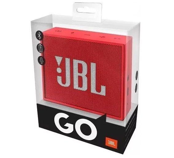 Caixa De Som Jbl Go Flip Speaker Portatil Bluetooth Vermelha