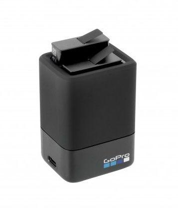 Carregador de Bateria Duplo + Bateria Para Câmera GoPro Hero 5 Black Hero 6 Black Hero (2018) Hero 7 Black AADBD-001