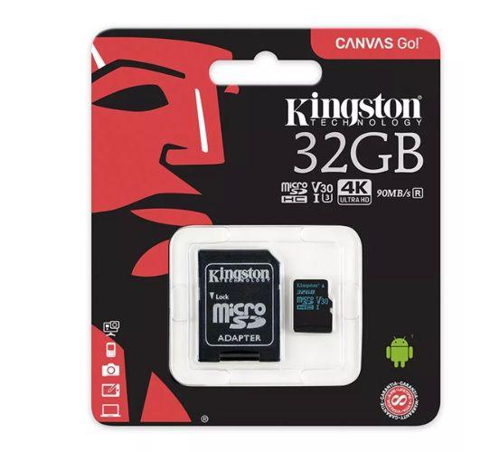 Cartao Memoria 32gb Classe 10 Canvas Go Kingston 90mbs Sdcg2