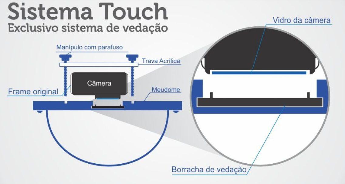 Dome de 6 pol Touch Hero 5/6/7 Black - Meu Dome