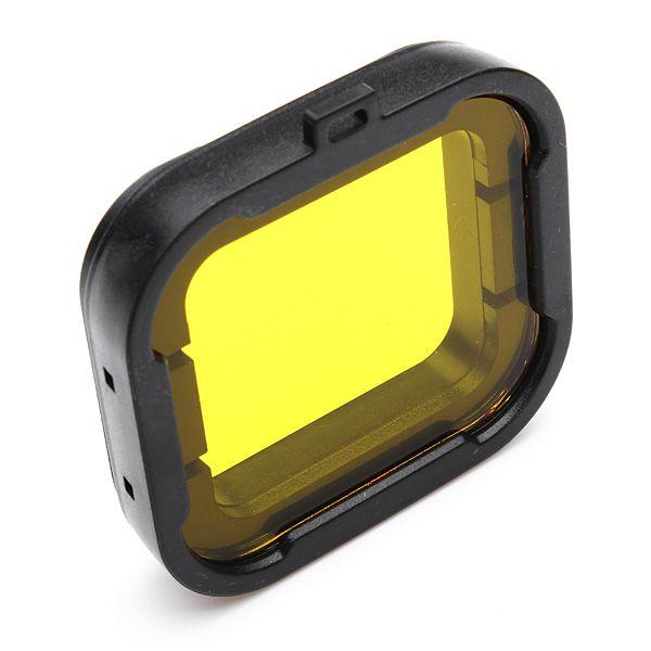 Filtro Mergulho Amarelo Filter Yellow Para Câmera GoPro Hero 3+ e Hero 4