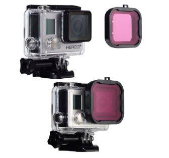Filtro Mergulho Roxo Filter Magenta Para Câmera GoPro Hero 3+ e Hero 4